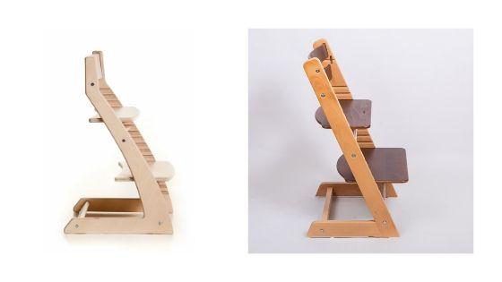 стул слева - с огромными ногами. справа - компактный