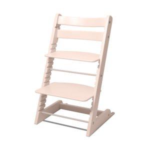 растущий стул из массива бука Мастерская Феникс цвет персиковая роза